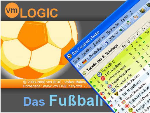 Screenshot vom Programm: Das Fussball Studio